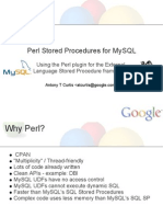 Perl Stored Procedures for MySQL Presentation