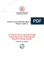 Renewable Energy Policy 2009-14