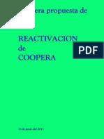 Primera Propuesta de REACTIVACION de COOPERA