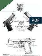 Safari Arms 1911 Enforcer Match Master Pistol