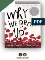 Why We Broke Up by Daniel Handler and Maira Kalman (SAMPLE)