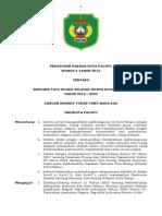 Peraturan Daerah Kota Palopo Nomor 9 Tahun 2012 Tentang Rencana Tata Ruang wilayah Kota Palopo Tahun 2012 - 2032
