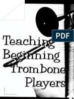 teaching beginning trombone players