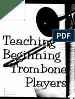 teaching beginning trombone players
