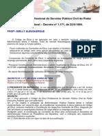Cdigo de Tica Decreto n 1.171 de 22.06.1994 Emilly Albuquerque