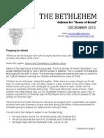December 2013 Bethlehem Newsletter