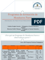 Programa de formación de Monitores Pares (2 diciembre)
