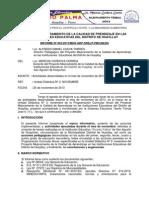 Informe Noviembre Proyecto Educativo Huayllay