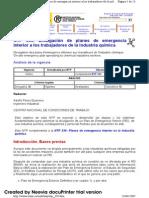 NTP 339 Divulgación de planes de emergencia interior a los trabajadores de la industria química