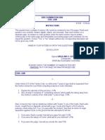Bar Examination 2001
