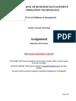 Strategic Marketing LCBMIT SEPT