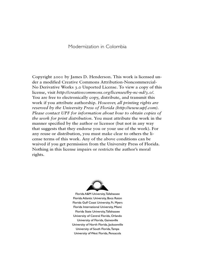 Henderson,Modernization,9781616101220   Colombia   Liberalism