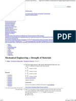 Strength of Materials - Mechanical Engineering Questions and Answers Page 10