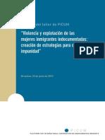 Violencia y Explotacion Mujeres Inmigrantes Indocumentadas