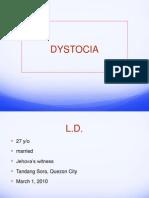 Dystocia - Case Report