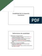 05r2 Estabilidad de La Respuesta Transitoria