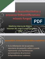 Vasculitis leucocitoclástica y procesos linfoproliferativos