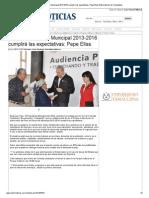 02-12-2013 'Plan de Desarrollo Municipal 2013-2016 cumplirá las expectativas