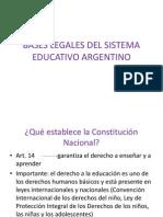 Bases Legales Del Sistema Educativo Argentino