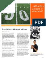 Magazine Overpaid Athletes
