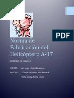 Norma de Fabricación del Helicóptero A.docx