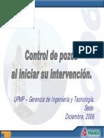 control de pozos al incial intervención