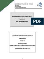 E02 Fuerza de Corte y Potencia de Mecanizado