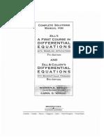 Solucionario de Ecuaciones Diferenciales Dennis g Zill