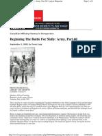 Legion Magazine -Beginning the Battle for Sicily - 050901