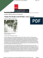 Legion Magazine - Taking the Rough Land of Sicily - 060101