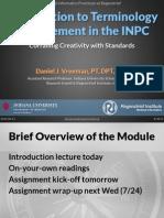 2013 07 15 - Intro to INPC Terminology Management