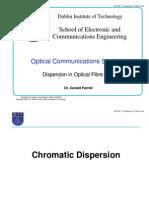 5 Dispersion in Fibre i i