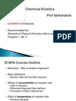 B18PA - Chemical Kinetics - Prof McKendrick - Course Summary-1