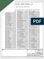 001 - Drawing List Building Architecture Bintan