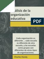Análisis de la organización educativa
