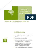 PROCESO E INFORME DE INVESTIGACIÓN