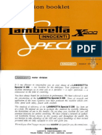 Lambretta X200 Special Manual Instruction Booklet