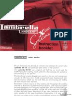 Lambretta X150 Special Manual Instruction Booklet