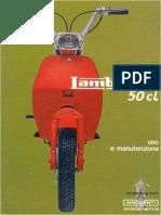 Lambretta 50 Cl italian Manual Operation & maintenance