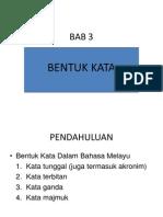 Bab 3 Bentuk Kata[1] Dr Isam