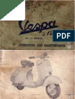 Douglas Vespa 125 Model 152 L2 Manual Operation & maintenance