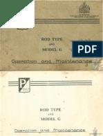 Douglas Piaggio Rod Type and Model G Operation & maintenance