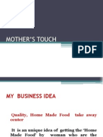 MOTHER'S TOUCH business plan