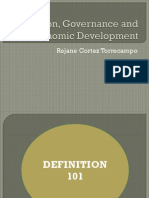 Election, Governance and Economic Development