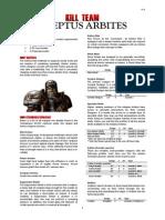 Kill Team List - Adeptus Arbites v1.1
