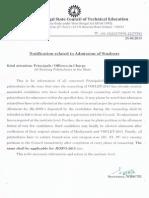 Notice - Admission - 3931 (25.06.2013 )