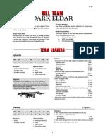 Kill Team List - Dark Eldar v1.3