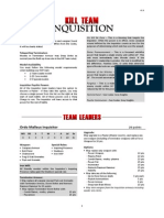 Kill Team List - Inquisition v1.1