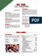 Kill Team List - Tau Empire v2.3