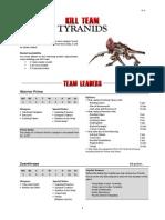 Kill Team List - Tyranids v1.3